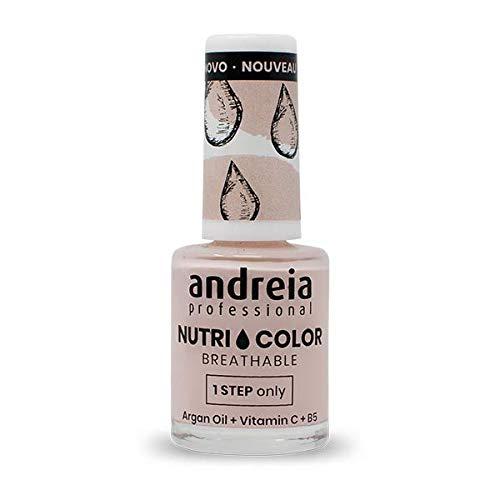 Andreia Professional NutriColor - Smalto per unghie Vegan Traspirante - Colore NC10 Rosa - 10.5ml