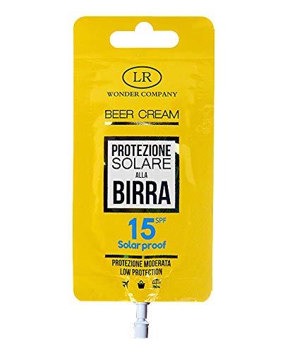 Beer Cream Pocket Spf 15, bustina di crema solare protezione 15 alla Birra viso e corpo (1x15ml) - LR Wonder Company