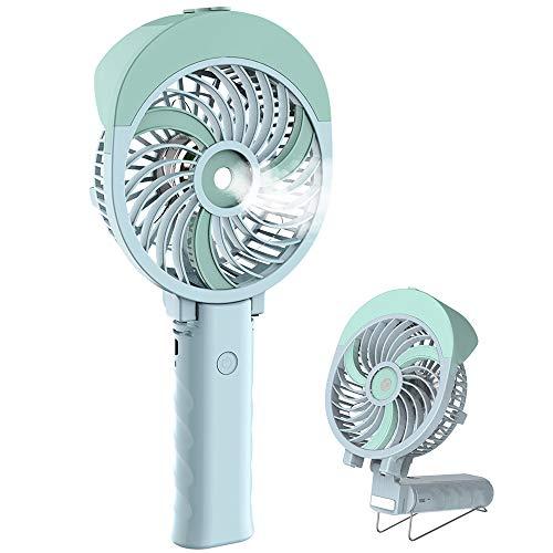 HandFan Ventilatore di nebulizzazione Portatile Ventilatore di Raffreddamento USB di Piccole Dimensioni Ventilatore Elettrico Portatile a Batteria con Getto d'Acqua per Viaggi/Campeggio/Esterno