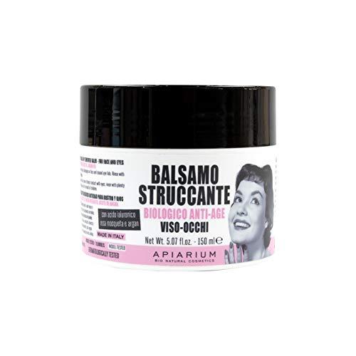 Apiarium Bio Natural Cosmetics Balsamo Struccante Biologico Anti-Age  Viso- Occhi, Fucsia, 150 ml