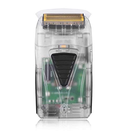 Rasoio Elettrico Barba Uomo, BESTBOMG 2 in 1 Wet & Dry Rasoi Elettrici con USB Ricaricabile, Testa Calva Tagliacapelli per Capelli Barba (Transparent)