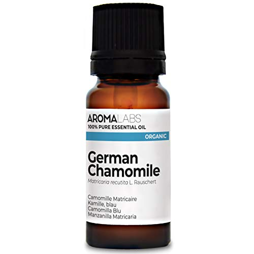 Aroma Labs Camomilla Blu Bio - 10Ml - Olio Essenziale Bio E Naturale Al 100% - Qualità Verificata Mediante Cromatografia - Aroma Labs - 10 ml