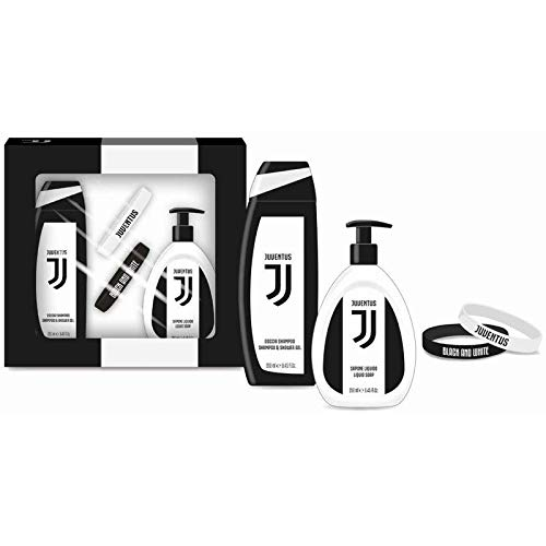Juventus Official Product JUVENTUS GIFT SET Braccialetti (Docciashampoo + Sapone lIquido + set 2 bracciali) - 500 g