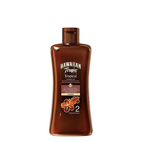 HAWAIIAN Tropic Tanning Oil Intense - SPF 2 - Olio Solare Abbronzante, 200 ml