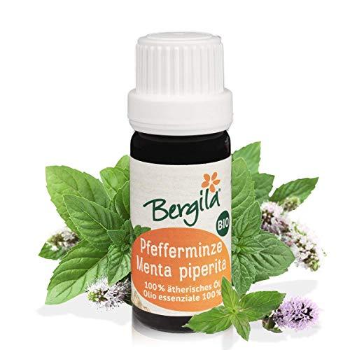 Bergila olio essenziale MENTA PIPERITA BIO, 10 ml - 100% naturale di materia prima biologica, rinfrescante, purificante - qualità controllata e certificata