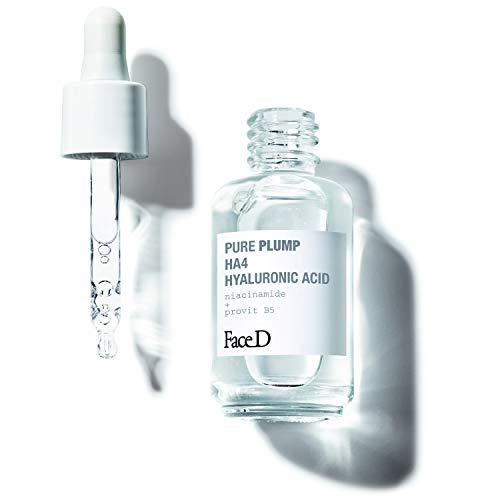 Face D - Pure Plump, Siero con Acido Ialuronico HA4 a Effetto Rassodante Immediato, 30 ml