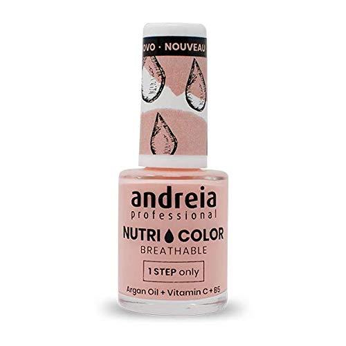 Andreia Professional NutriColor - Smalto per unghie Vegan Traspirante - Colore NC11 Rosa - 10.5ml