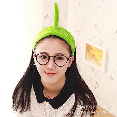 Fascia per capelli Teletubbies, fascia creativa, fascia per capelli, prodotti per il lavaggio del viso per i coinquilini-Green West