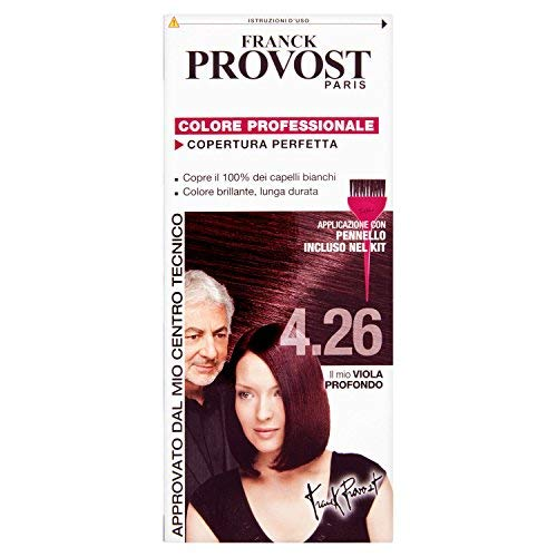 Franck Provost Set 6 Tinte Per Capelli Tonalità 4.26 Viola Profondo - 1000 Gr