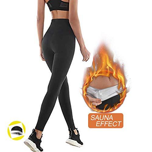NHEIMA Pantaloni Sauna Dimagranti, Leggings Anticellulite Donna Fitness, Legging Termici Vita Alta in NANOTECHNOLOGIE per Sudar- Effetto Snellente e Push Up – Ideale per Yoga Corsa Palestra Sport (M)