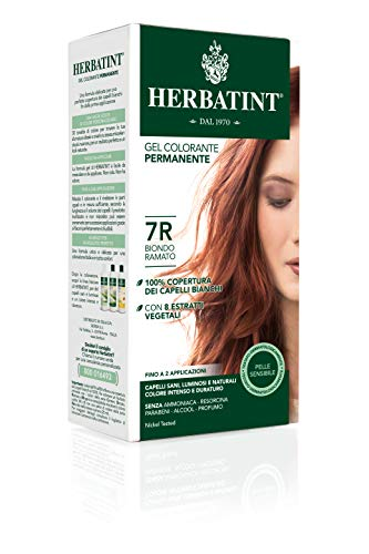 Herbatint Gel Colorante Permanente Biondo Ramato, 7R, 150 ml