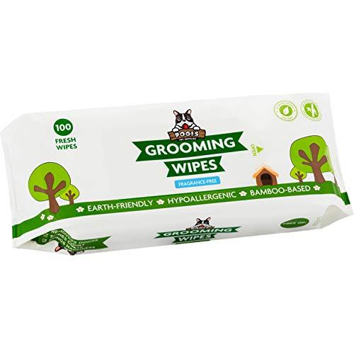 Salviette Pogi per toelettatura - 100 salviette deodoranti per Cani - biodegradabili, Senza Profumo, Naturali