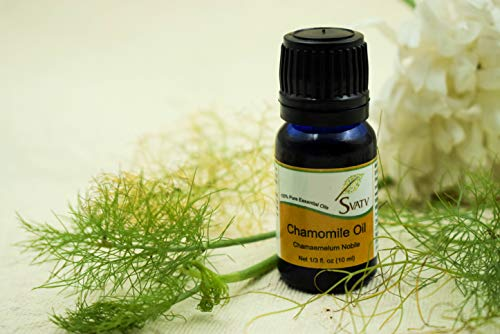 SVATV - Olio essenziale di camomilla puro al 100%, da 10 ml, non diluito, di grado terapeutico