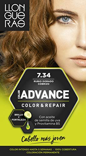 Llongueras Color Advance Tinta per Capelli, 7.34 Golden - 500 ml