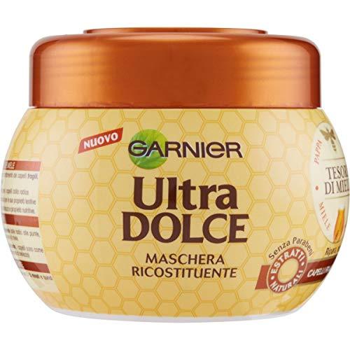 Garnier Maschera Ultra Dolce Tesori di Miele, Formula per Capelli Fragili, che si Spezzano, 300 ml