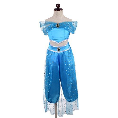 Lito Angels Ragazza Costume da Principessa Jasmine 2 Pezzi Vestito da Fancy Halloween Set di Vestiti Taglia 6-7 Anni