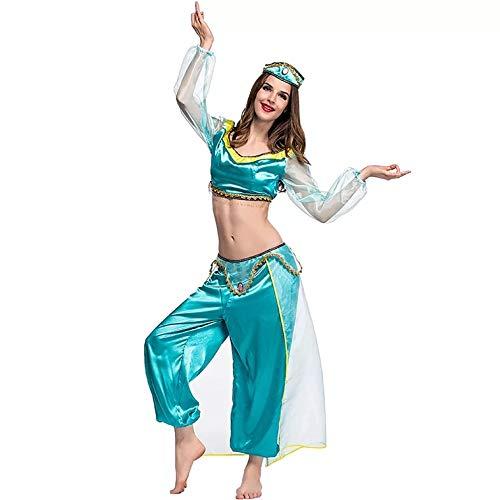 Costume Jasmine Signore Principessa araba - Set di Costumi Perfetto per Cosplay, Carnevale e Settimana a Tema - 5 Taglie Diverse (M)