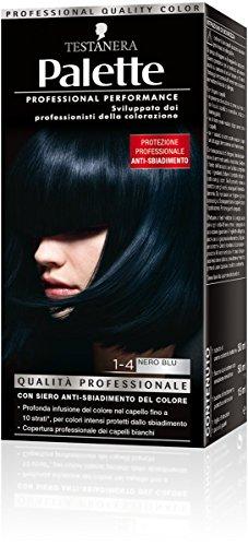 Schwarzkopf, Palette Classic, Colorazione Permanente con Tecnologia SalonPlex, 1-4 Nero Blu