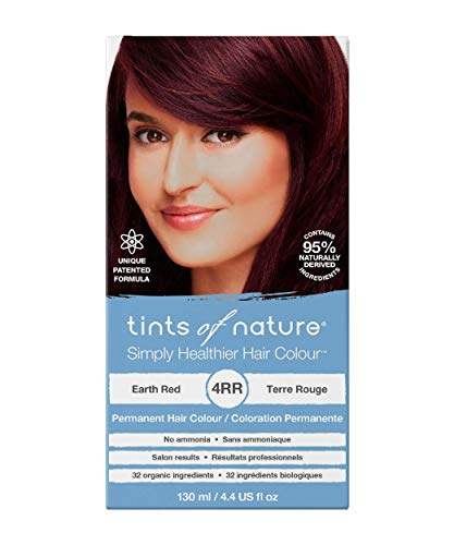 Tints of Nature 4RR Earth Red Permanent Hair Dye | A Natural, Multi-Tonal Red Brunette Home Hair Colour Kit | Vegan Friendly | 130ml / 4.4 fl oz
