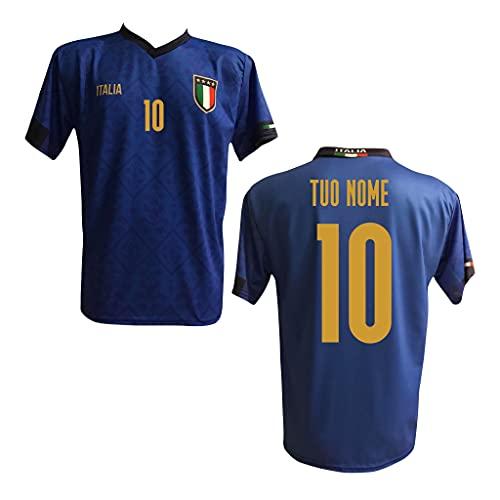 MAESTRI DEL CALCIO Maglia T-Shirt Replica Italia Nazionale Personalizzata Personalizzabile Adulto Bambino 2020/2021 (IMMOBILE, INSIGNE, VERRATTI, BELOTTI)