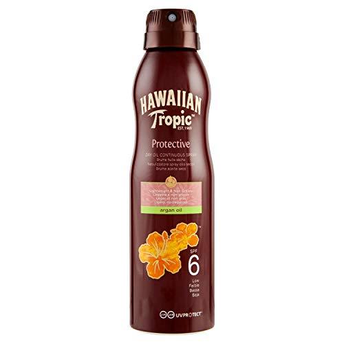 Hawaiian CAN SPRAY ARGAN OIL SPF 6, Spray Continuo - 177 ml