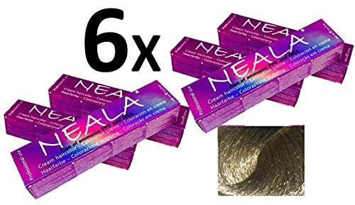 Pack 6 x Tintura professionale colorazione per capelli SENZA AMMONIACA, PPD o MEA - 9.13- BIONDO CHIARISSIMO CENERE DORATO - NEALA 100ml.