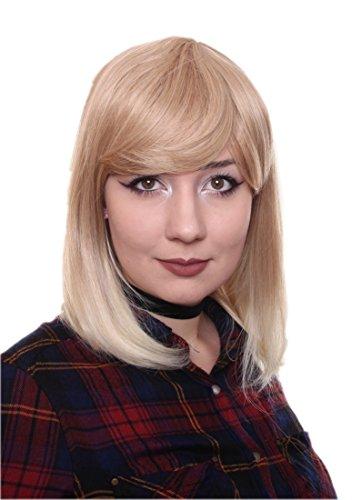 Prettyland Parrucca donna liscia e opaca come capelli veri aspetto medio-lungo Bionda Biondo Platino C181