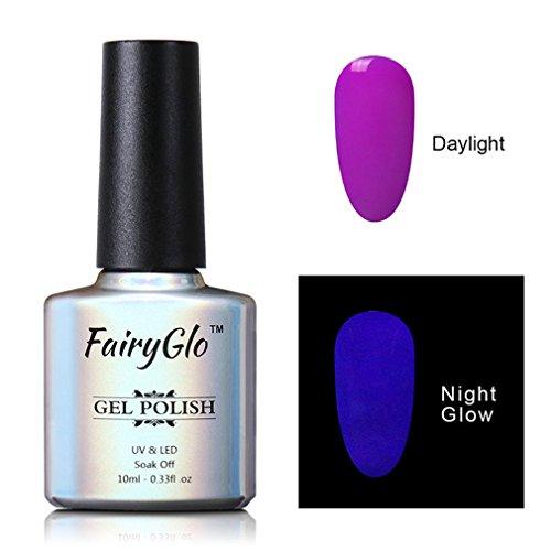 Smalto Semipermente per Unghie in Gel UV LED Smalto Cambia Colore Gel per Unghie Manicure Semipermanente Soak Off di Fairyglo 10ml-6706