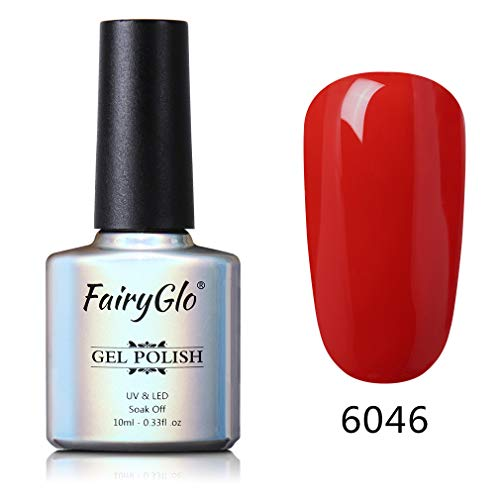 Smalto Semipermanente 3 in 1 per Unghie in Gel UV LED Smalti Semipermanenti One-Step Gel Colore Ricostruzione per Unghie Soak off 1pz 10ml di Fairyglo - un passo gel - 6046