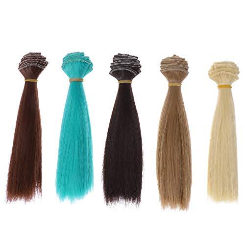 SUPVOX Parrucca per Capelli Lisci Resistente al Calore Parrucca da 5 Pezzi Parrucca per Capelli