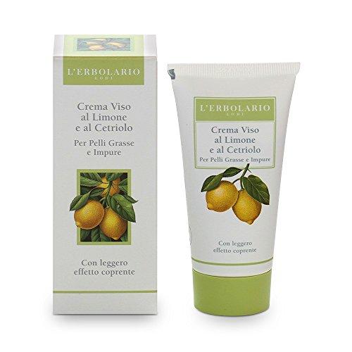 L'Erbolario, Crema Giorno Effetto Coprente, Base Trucco per Pelli Impure con Limone e Cetriolo, 50 ml