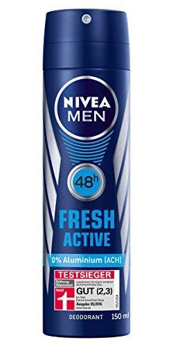 Nivea Men, senza alluminio, Deo di custodia, Fresh Active, Confezione da 6