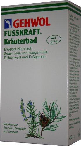 Gehwol, pediluvio di erbe Fusskraft, per piedi ruvidi e screpolati, concentrato da bagno