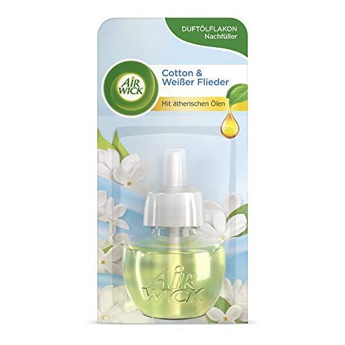 Air Wick Ricarica per olio profumato, Cotton & White Flieder, 19 ml