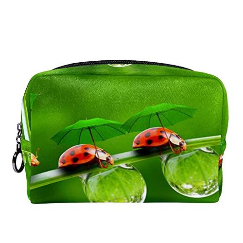 Borse da Toilette,coccinella ,make up borse da viaggio,Beauty Case da Viaggio,Cosmetici Trucco Pochette da Toilette Organizer