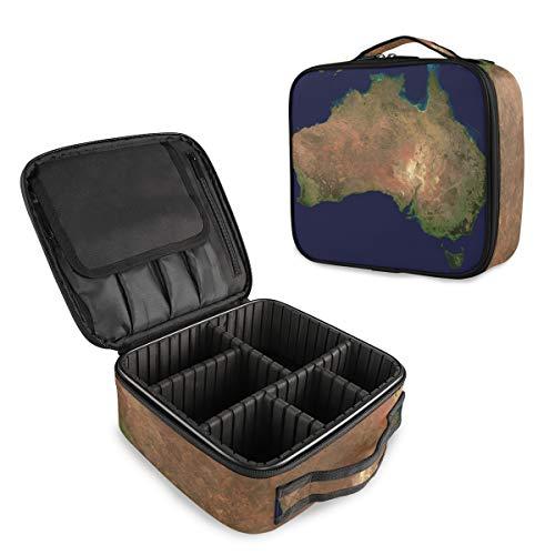 Australia Continente Mappa Make Up Bag Viaggio Trucco Caso Impermeabile Staccabile Sacchetto Trucco Organizzatore Toiletry Portatile Sacchetto Cosmetico Oxford Tessuto