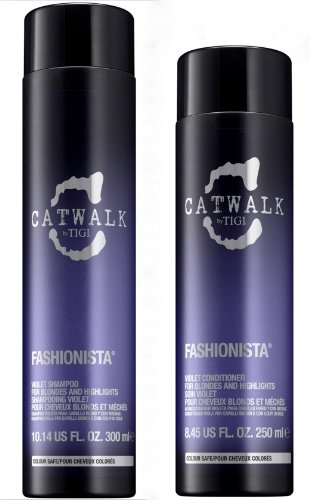 TIGI Kit Catwalk Fashionista Violet Shampoo 300ml + Balsamo 250ml