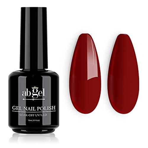 ab gel Smalto per unghie in gel,vino rosso 15ml Soak Off UV LED Smalto per unghie gel per nail art Salon Fai da te a casa Smalto gel per unghie Manicure Summer Nail Polish,0.5 fl.oz