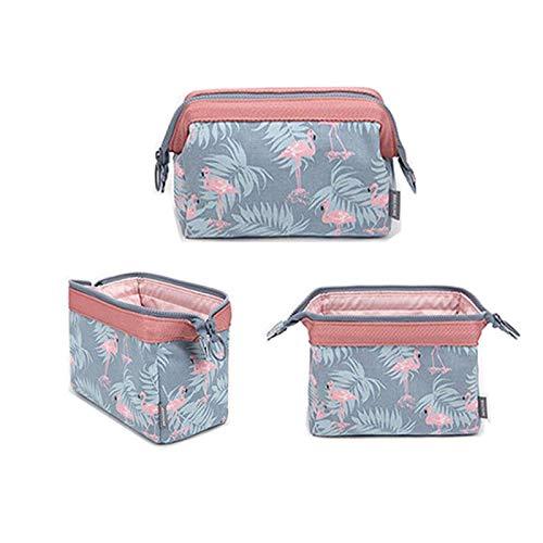 Flamingo Flower Printed Cosmetic Bag Women Necessaire Make Up Bag Travel Waterproof Portable Makeup Bag Toiletry Kits C18*13*9cm