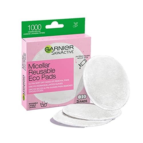Garnier Skin Active Dischetti Ecologici Struccanti in Microfibra EcoPads, Lavabili e Riutilizzabili, Confezione da 3