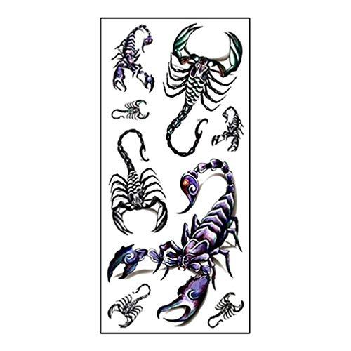 Adesivo temporaneo impermeabile del tatuaggio del re dello scorpion 3D fresco di modo degli uomini