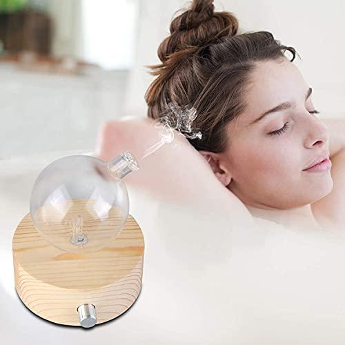 Diffusore Nebulizzante di Oli Essenziali per Aromaterapia Domestica, Professionale o da Salone. Niente Acqua, Niente Calore - Pura Fragranza. (Legna leggera)