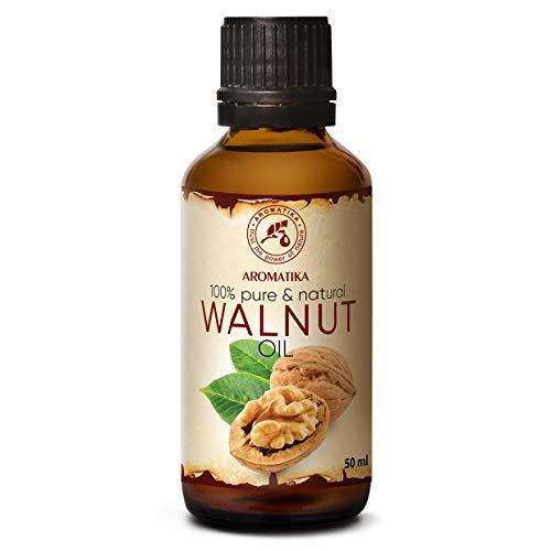Olio di Noci 50ml - Naturale al 100% - Ricco Juglans Regia Seed Oil - Cura Intensiva per Viso - Corpo e Capelli - Trattamento di Bellezza - Ottimo per i Massaggi - Olio di Noci Alimentare