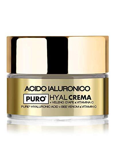 Crema viso HYAL con acido ialuronico puro a doppio peso molecolare, Veleno d'Ape e Vitamina C, idratazione intensa e immediata a doppia profondità (1x50ml) - LR Wonder Company