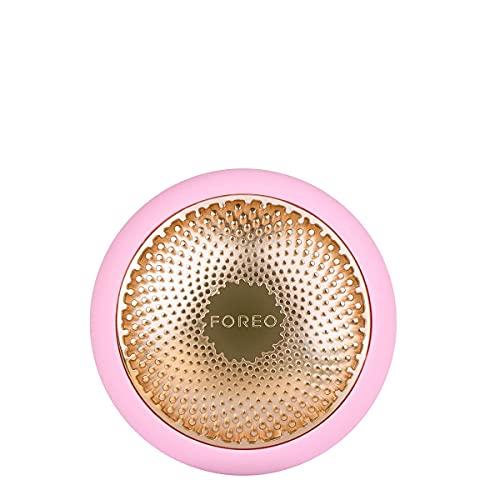 FOREO UFO Smart Mask Trattamento in Soli 90 Secondi con Maschera Facciale con Terapia della Luce Termo, Crio, LED e Pulsazioni Soniche, App per Smartphone Dedicata, Pearl Pink