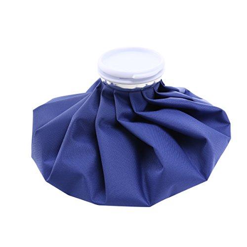 Ultnice Borsa per il ghiaccio, 28 cm, per lesioni sportive, per collo e ginocchio, colore: blu