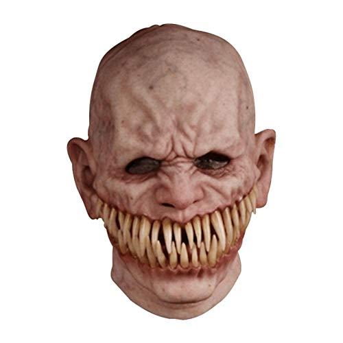 Maschera Realistica Maschere Spaventose Per Adulti Maschera Zombie Di Halloween, Copertura Per Il Viso Di Halloween Orrore In Lattice Copricapo Da Uomo Anziano Scudo Per Travestimento Cosplay Costumi