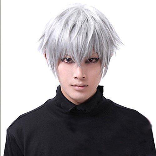 Parrucca corta da uomo, motivo: Ken Kaneki Tokyo Ghouls, per cosplay, feste e Halloween.