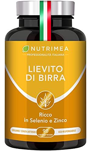 Lievito Di Birra | 1200 Mg Di Lievito Di Birra| Capsule Vegetali Per Capelli, Unghie E Benessere Della Pelle | Formula Con Selenio E Citrato Di Zinco | 200 Compresse Per Cura Di 2 Mesi