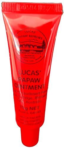 Lucas, pomata Papaw con applicatore, il migliore trattamento in crema per labbra screpolate, piccole ustioni, scottature, tagli, punture di insetti ed eritema da pannolino